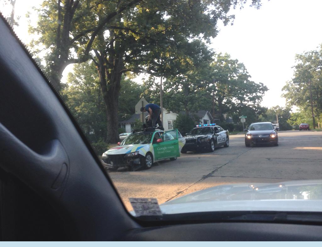 Google Street View Car In Wrong-Way Crash | The Smoking Gun on