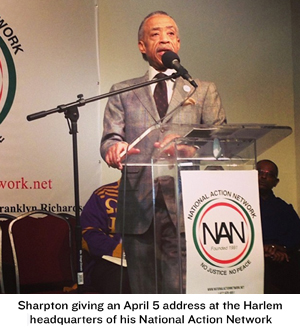 While sharpton s acrimonious history with law enforcement