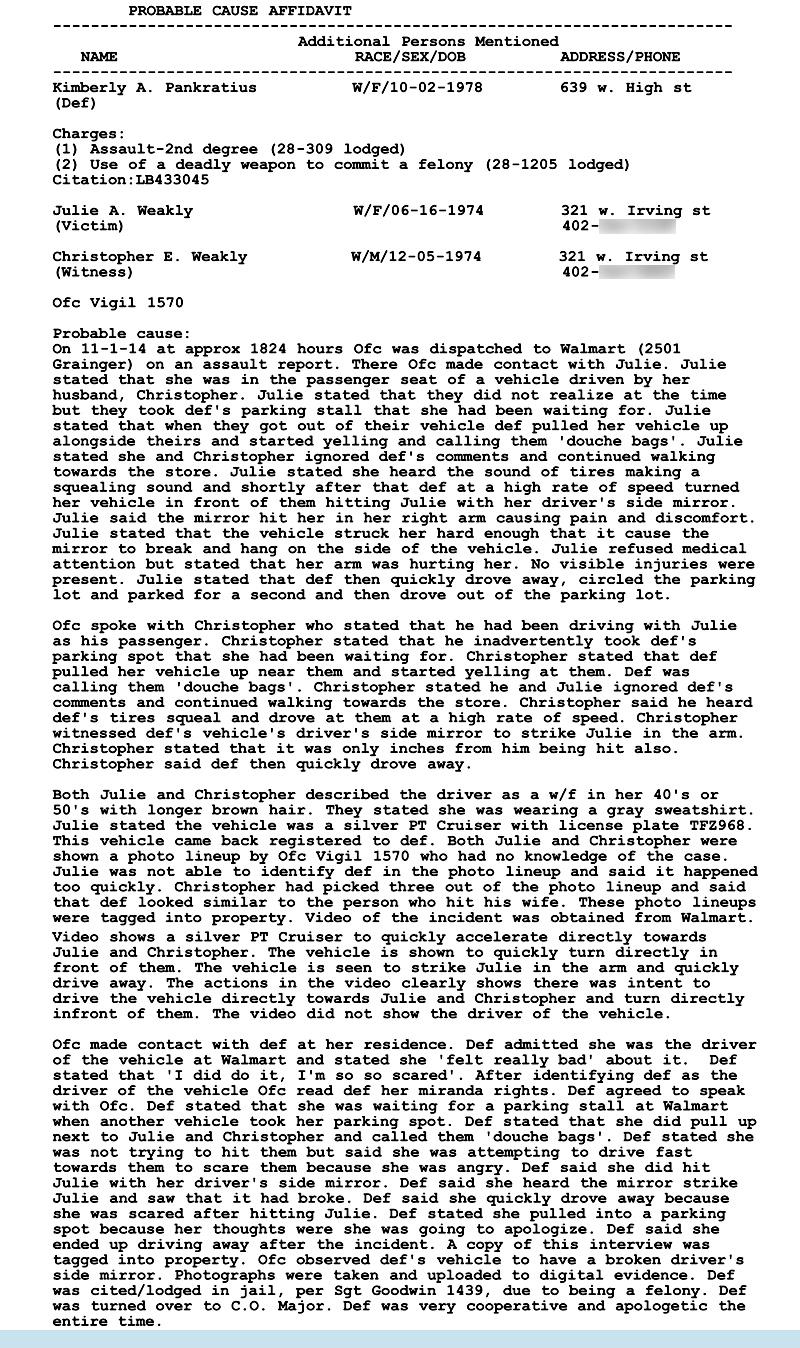 walmart incident report