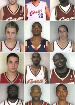 Cleveland Cavaliers Mug Shot Collection