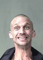 Arrested for assault with a deadly weapon, theft.