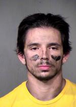 Arrested for assault, resisting arrest.