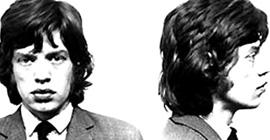 Mick Jagger mug shot
