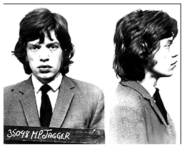 Mick Jagger Mug Shot The Smoking Gun