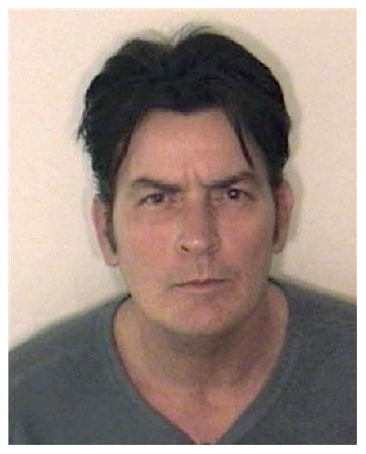 Charlie Sheen MUG SHOT... Robert Downey Jr Florida