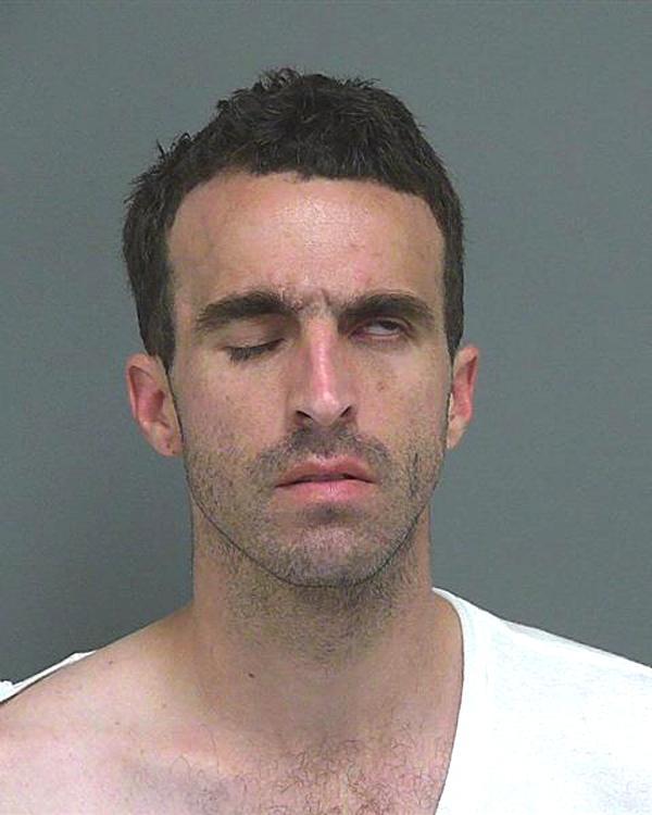 Arrested for domestic violence.