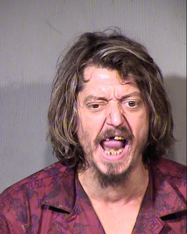 Arrested for a pot violation.