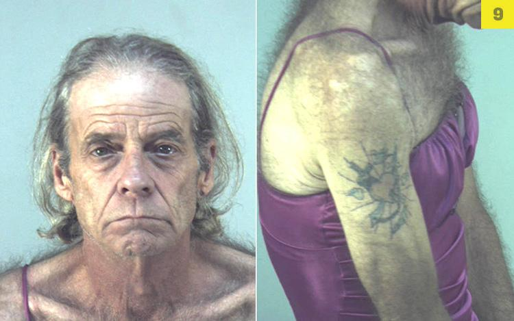 This camisole enthusiast, 56, landed behind bars in March after Florida cops arr