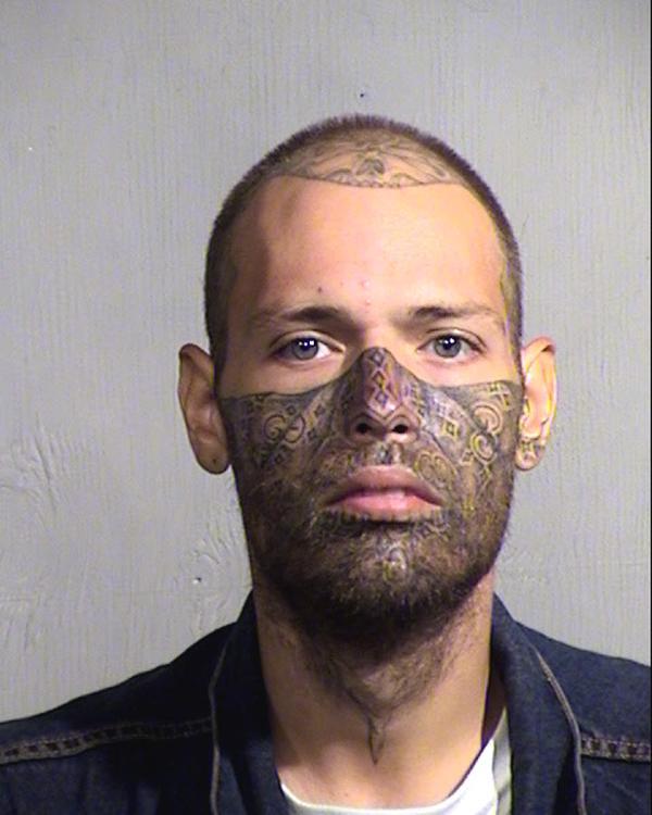 Arrested for trespassing, possession of drug paraphernalia.