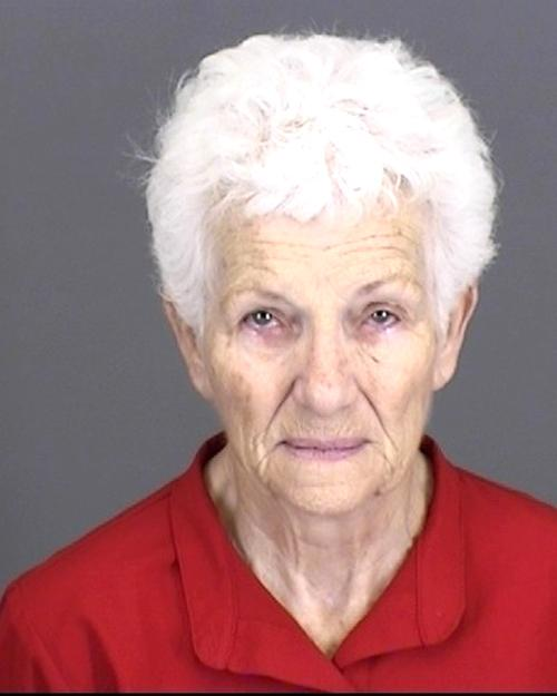 Arrested for battery on a person over 65 years old.