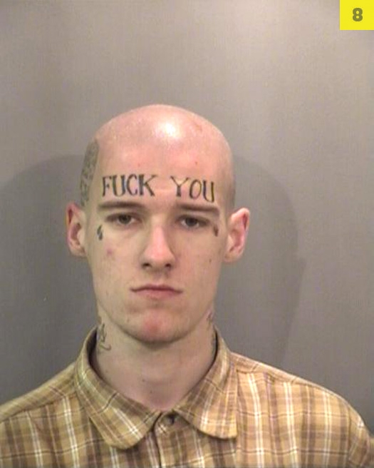 Tattoo enthusiast Patrick Brooks needs his forehead washed out. The California m