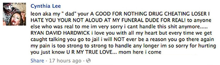facebook suicide note | the smoking gun