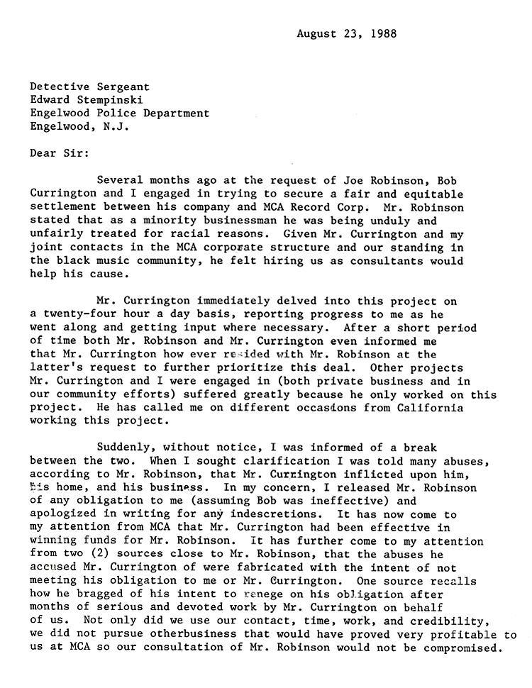 Sharpton Letter The Smoking Gun