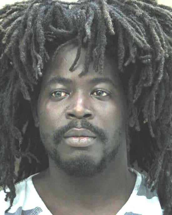 Arrested for battery, pot possession.