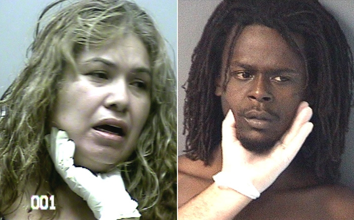 Arrested for DUI (left), battery (right).