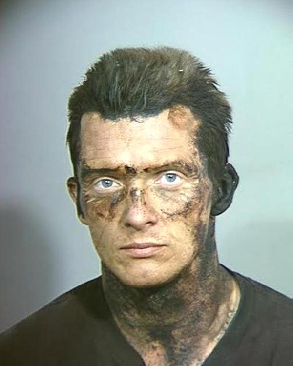 Arrested for possession of a stolen vehicle, evading arrest.