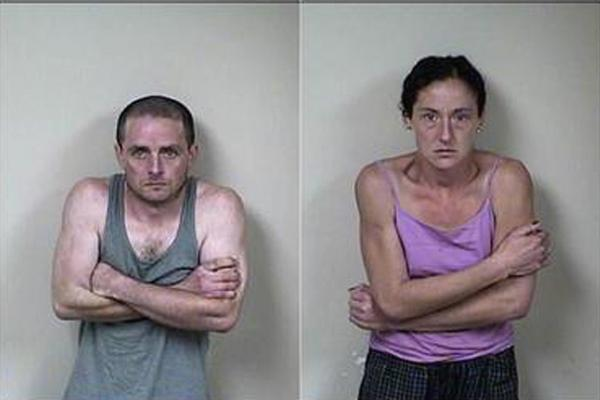 Both arrested for strong-armed robbery.