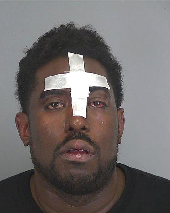 Arrested for assault and battery.