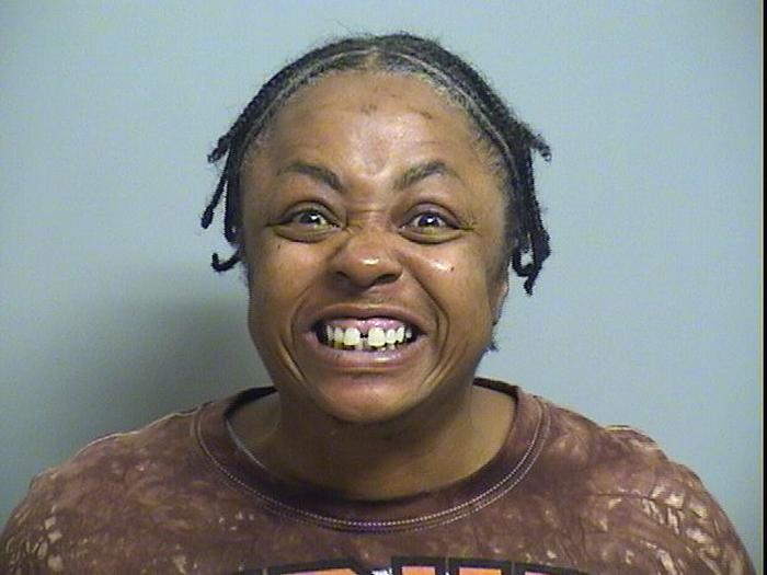 Arrested for assault and battery on emergency personnel, vandalism.