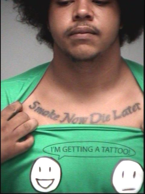 Arrested for pot possession.