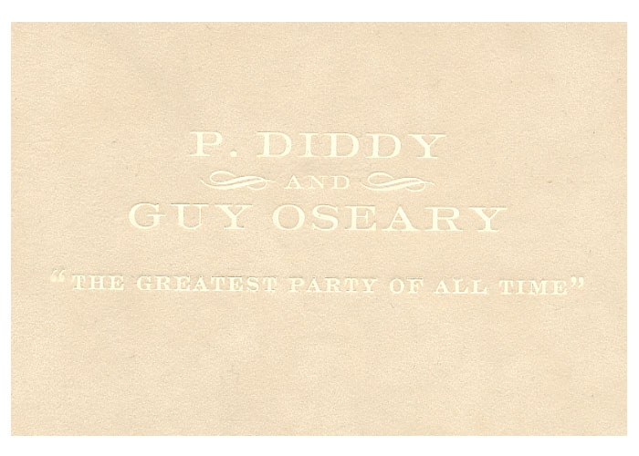 Puffys Greatest Party Of All Time – P Diddy White Party Invitation