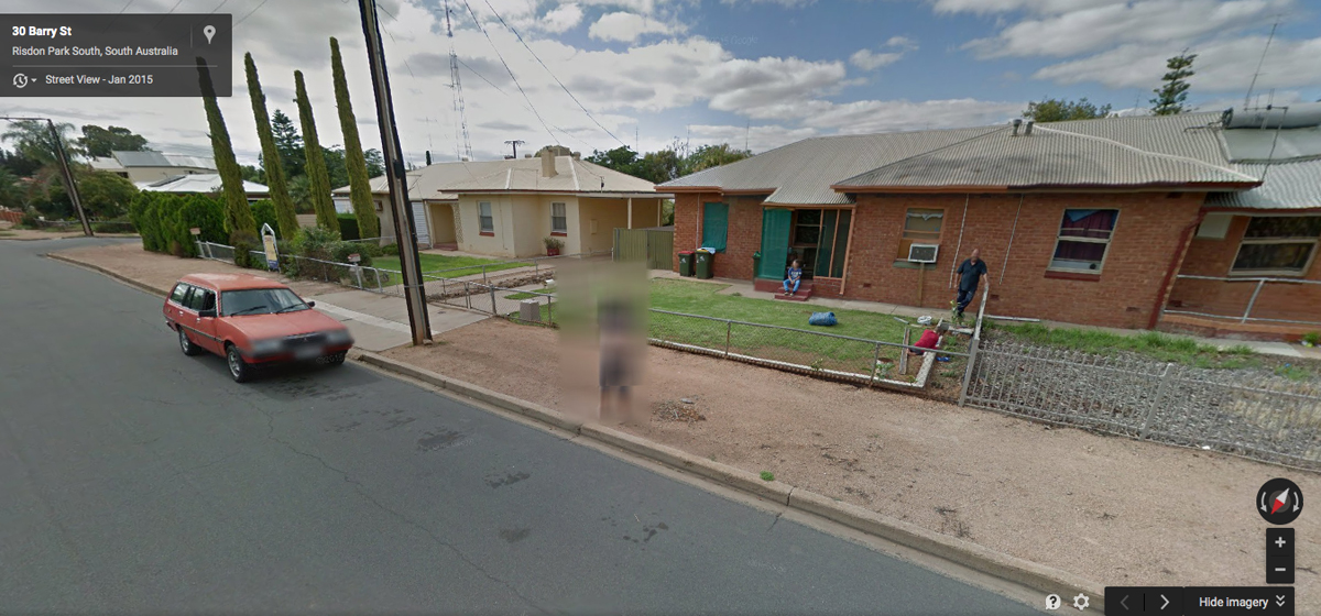 Woman who bared K-cup breasts on Google Street View is