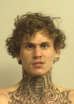 Arrested for burglary, reckless endangerment, and attempting to elude police.
