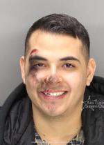 Arrested for malicious injury to property.