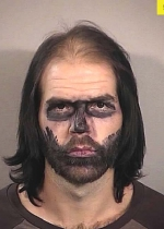 Joshua James Stueckle, 28, was working at a haunted house in Idaho when cops cuf