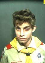 Arrested for resisting arrest.
