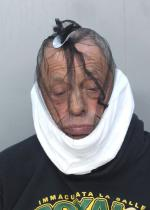 Arrested for battery on an officer, theft.