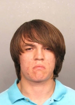 Arrested for burglary, grand theft, and shooting a deadly missile.