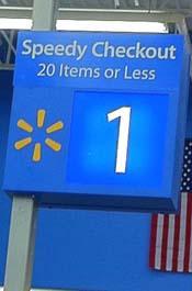 Walmart Express Lane