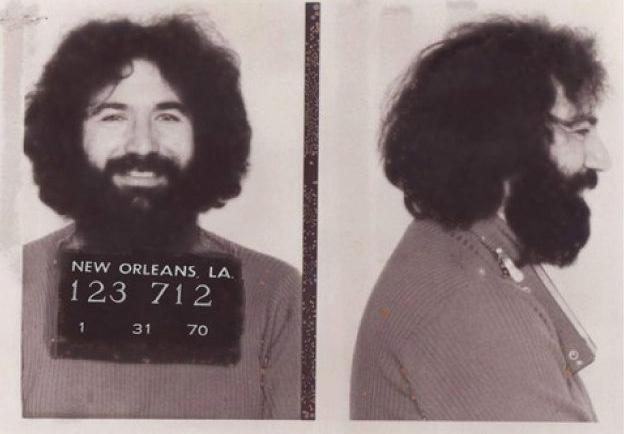 Jerry Garcia mugshot