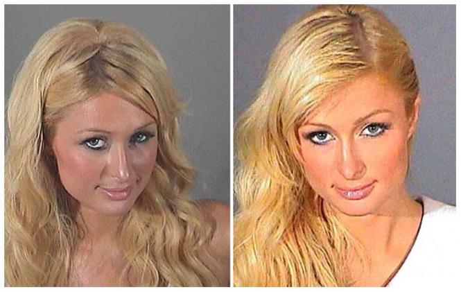 Paris Hilton mug shot