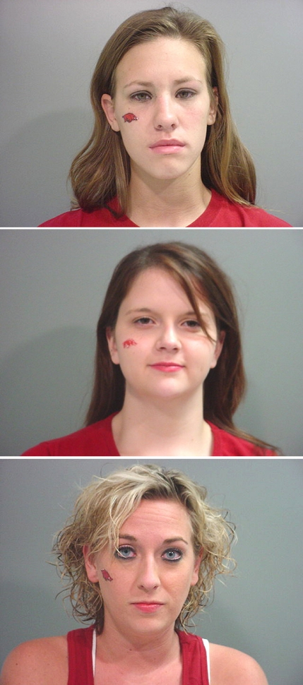 Arrested for (top to bottom) public intoxication, theft, and public intoxication