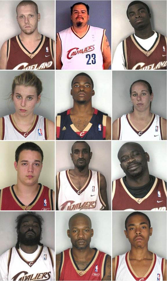 Cleveland Cavaliers Mug Shot Collection