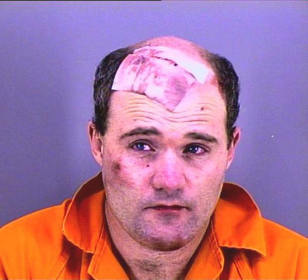 Arrested for soliciting a minor online, resisting arrest.