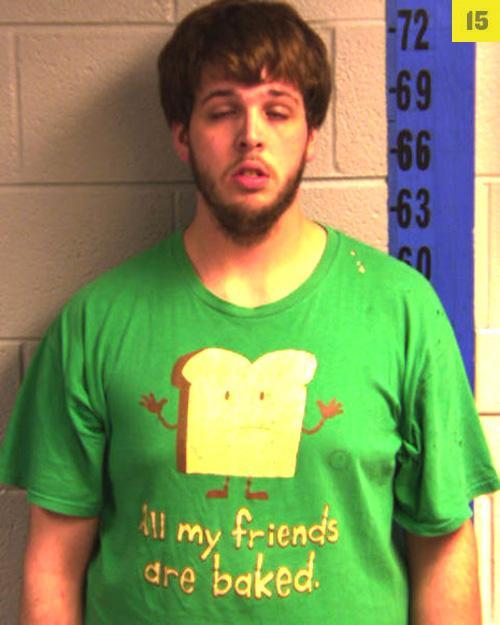 Arrested for marijuana trafficking.