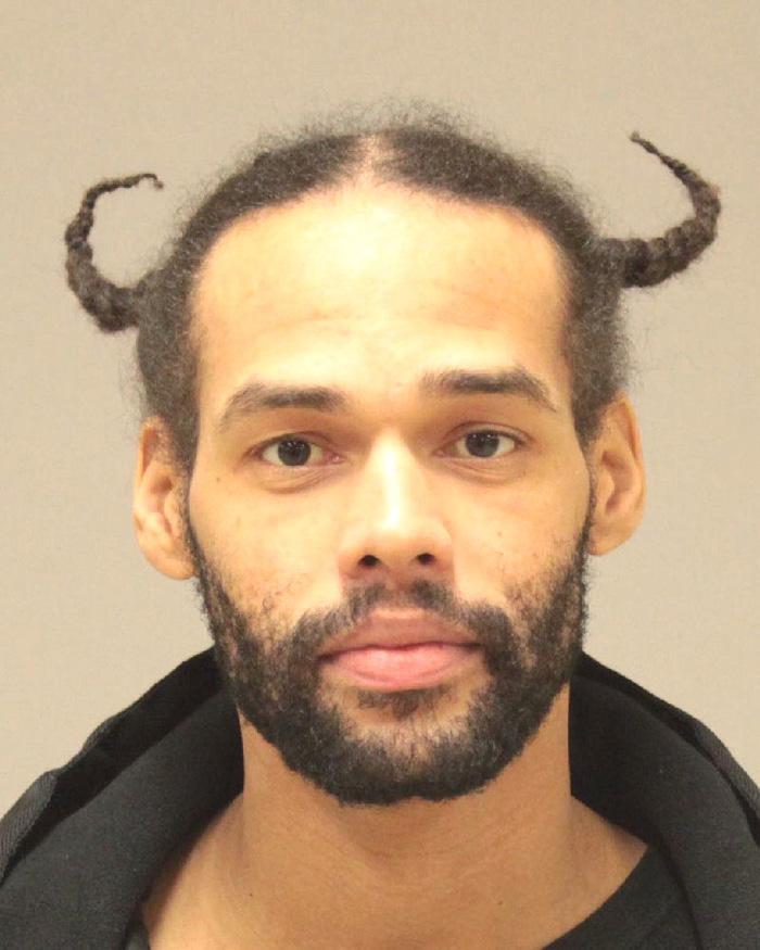 Arrested for arson, domestic violence.