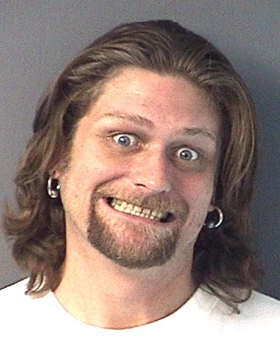 Arrested on an out-of-county warrant.