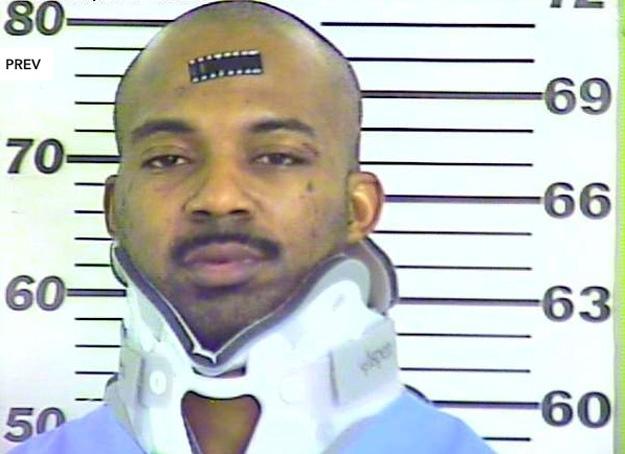 Jailed on a state custody hold.