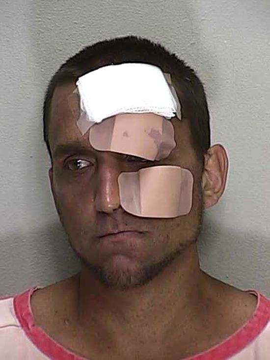 Arrested for battery on a law enforcement officer, resisting arrest.