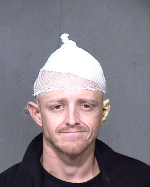 Arrested for criminal damage, theft of control property.