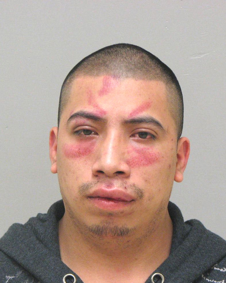 Arrested for assault, drug possession, and obstructing an officer.