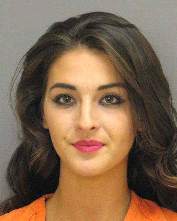 Arrested for driving violations.