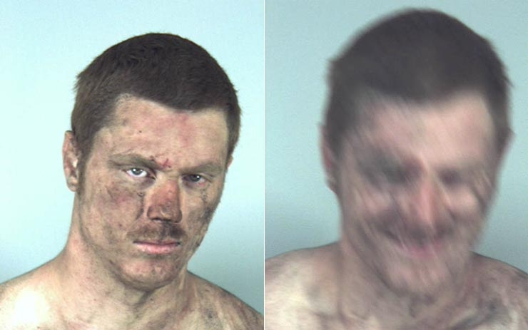 Arrested for disorderly intoxication, harming a public servant.