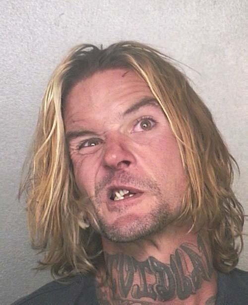 Arrested for assault, criminal mischief.