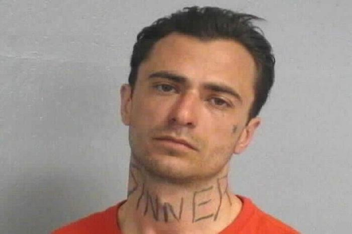 Arrested for damage to property.