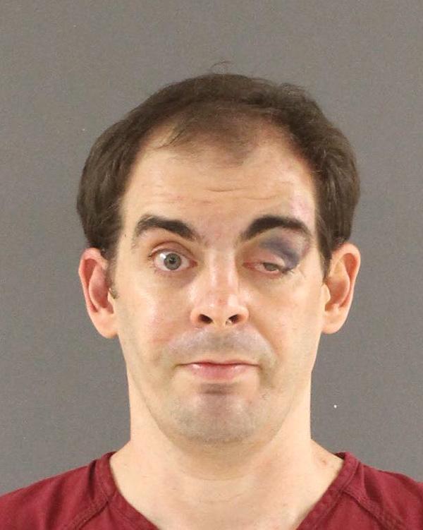 Arrested for false imprisonment, assault, and resisting arrest.